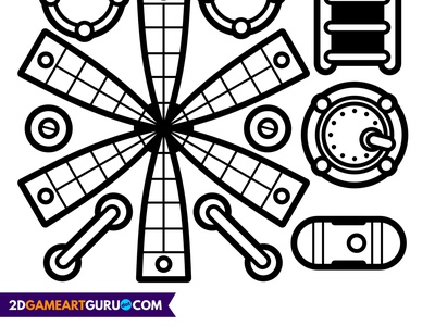 2D RollMonster Rocket activity colouring papercraft kids vector illustration 2dgameartguru