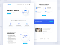 Firsthealth Landing Page healthy health care landingpage simple landing website doctor vector ui healthcare medical landing page health illustration clean