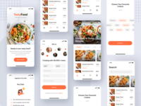 Cooking Courses App UI Kit elearning course cooking product mobile illustration ecommerce android ux ios ui clean