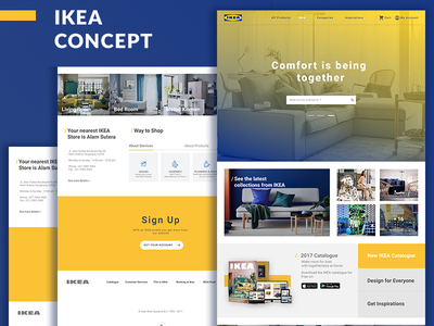 IKEA Indonesia Homepage Concept concept property yellow blue architect web homepage ikea concept ikea