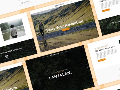 Adventure Landing Page minimalism modern simple ux ui web design black travelling adventure landing page
