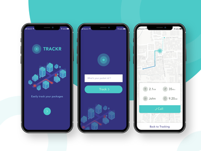 Tracking App Exploration delivery package city illustration maps ios11 android ios mobile app tracking
