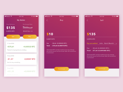 Bitcoin Wallet payment simple card ux ui crypto android ios wallet bitcoin