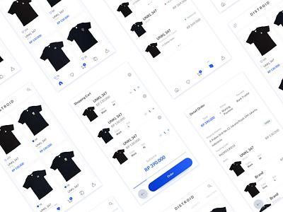 E-Commerce Mobile App Exploration ui ux app design blue clean ios mobile apps e-commerce
