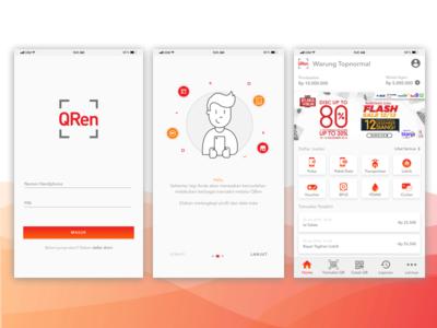 QR Payment Apps clean ux ui app cashless android ios mobile sme qr payment