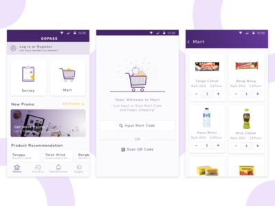 Mart Mobile Apps online shop mart ios e-commerce simple card ux ui mobile android