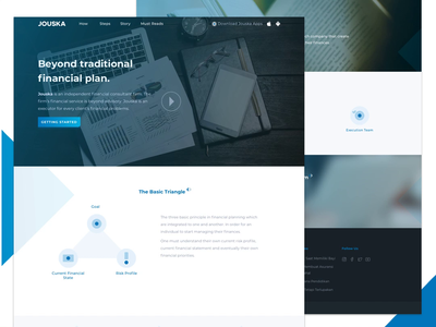 Finacial Consultant Website payment web ux ui branding clean desktop website firm adviser consultant money finance financial