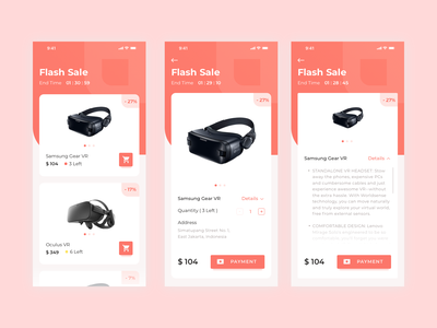 Flashsale App check out flashsale app concept online shop product vr sale clean app card ecommerce ui  ux design ui ios mobile