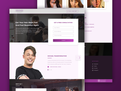 Consultant Landing Page landing page design clean simple ui  ux ui card adviser leads branding website web desktop consultant landing page