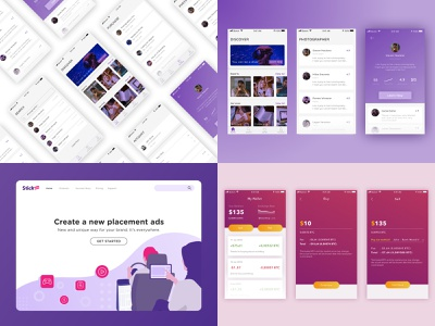 2018 branding illustration product payment landing page ecommerce simple mobile ux card android ios clean ui