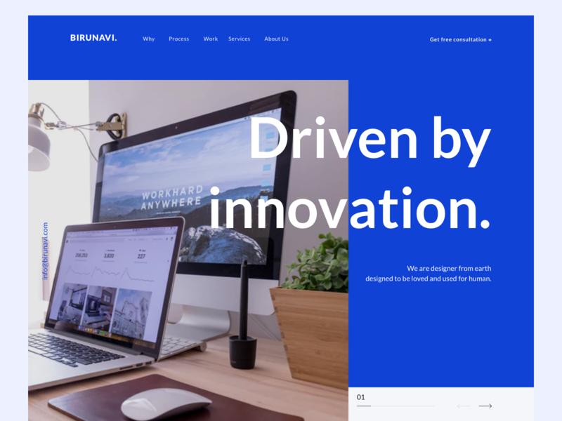 Design Studio Landing Page agency simple ideas innovation ui  ux ui branding clean landing page website minimalism design studio design