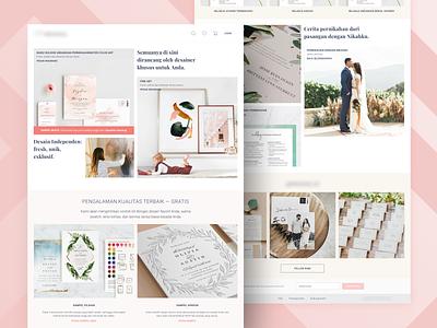 Landing Page Custom Invitation wedding card card simple ecommerce wedding invitation product clean desktop landing page design ux ui