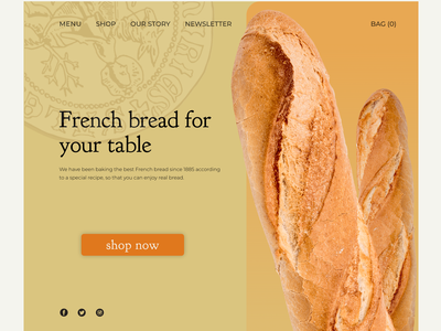 French bread webdesigne uiuxdesigne branding design ux web graphic design ui
