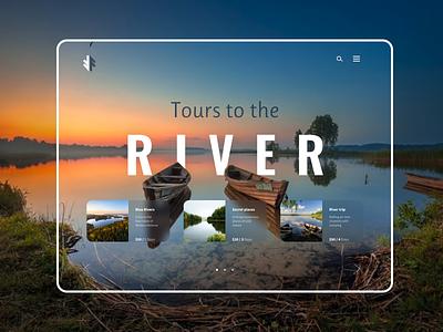 Tours to the river озера реки путешествия природа река branding ux ui uiuxdesigne graphic design design
