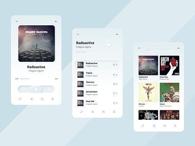 Music player неоморфизм музыкальный плеер плеер vector app ux uiuxdesigne ui design