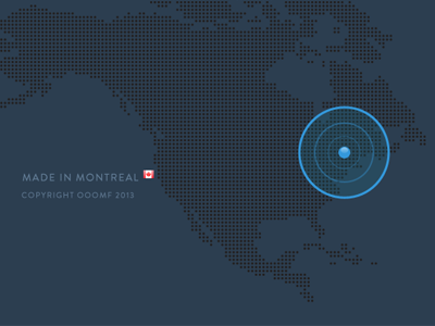 ooomf footer / map ooomf redesign project canada footer map montreal