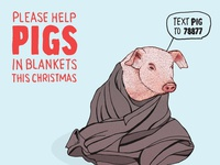 #lunchtimedrawings Pigs in Blankets