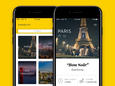 City Guide for iOS travel app app city travel ui design design ios