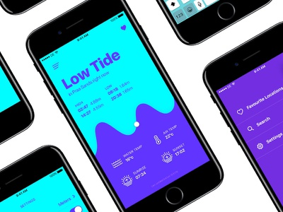 Tide App (A Sketch Concept) sketch app design app tide surfing surf ios mobile app ui design ui