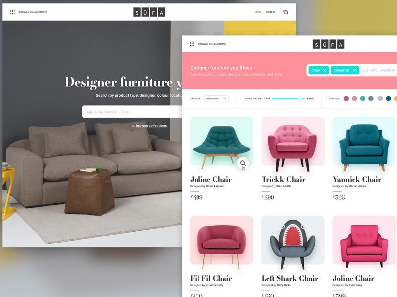 SÜFA - A netmag project ecommerce store web design design challenge sofa
