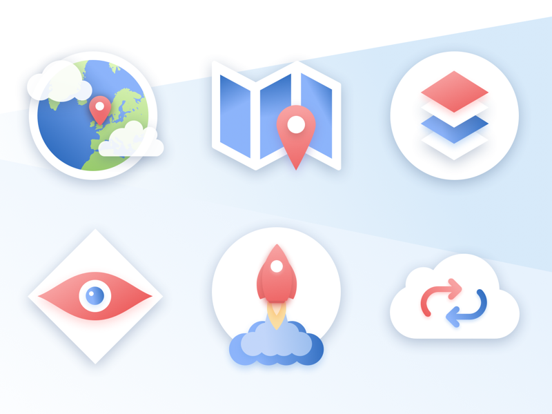 Dribbble site icons