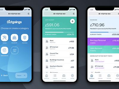 Outgoings App Teaser ux web ios app design ui