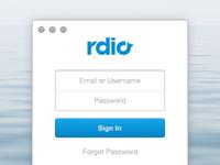 Rdio Sign In (Freebie)