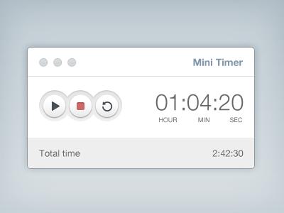 Mini Timer [Freebie] free psd ui free psd freebie timer app ux clock