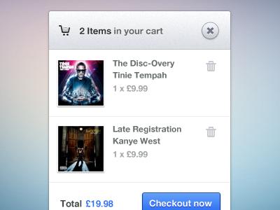 Cart Modal Popup (Free PSD) cart ui free freebie web shopping basket ecommerce free psd