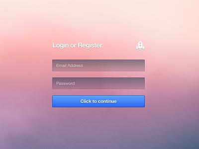 Login Or Register (Rebound) rebound login form register signup button freebie free free psd