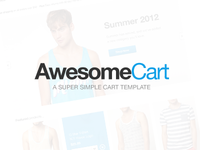 Free AwesomeCart Design (PSD)