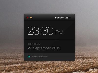 Clock Widget Rebound clock widget app ui time rebound freebie psd free