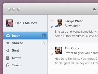 Email App UI Freebie fun freebie psd email batch icons batch icons app mac ui mac ui