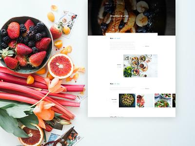 Website Design food website food design ux design interface design web webdesign