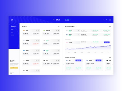 Crypto Trading Plattform design ux design interface design web webdesign