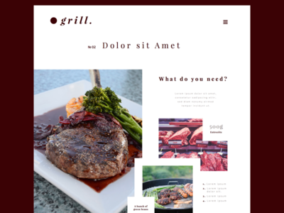 .grill — Recipedetails Page food web webdesign