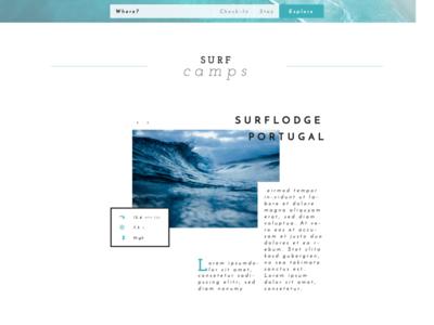 Salt surfer — Webdesign