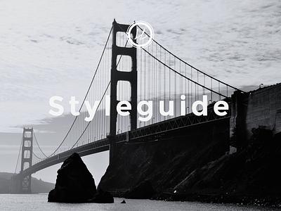 Web–Styleguide Cover Page interface design ux design web webdesign