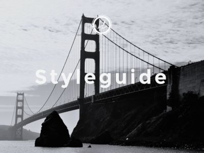 Web–Styleguide Cover Page interface design ux design web webdesign