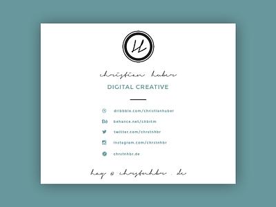 E-Mail-Signature Design interface design ux design web webdesign