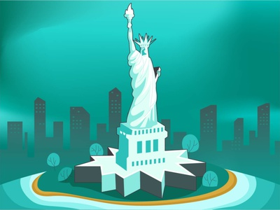 statue of liberty stylized vector artwork art drawing web illustration ui illustration stylized vector vector sketch to vector usa vector illustration statue of liberty animation graphic design ui design illustration cultural illustration