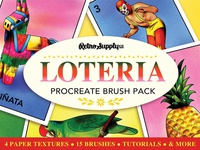 Lotería Brush & Tutorial Pack illustration retrosupply brushes procreate art procreate app procreate