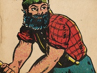 Paul Bunyan with ColorLab ilovepancakes comics halftones affinity procreate photoshop