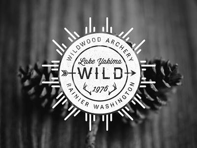 Wild Badge badge vintage retro haymaker unsplash texture hipster arrow antlers