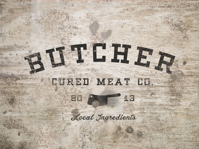 Cured Meat weathered logo mock-up logos typography vintage retro texture