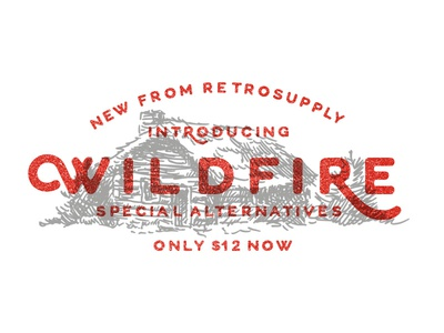 Wildfire Font wildfire font typeface sans-serif display rounded all caps special alternatives custom lettering retrosupply vintage retro