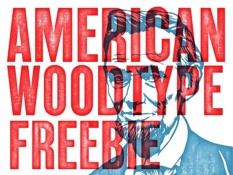 American Wood Type Freebie download free freebie retrosupply texture wood action psd photoshop wood type