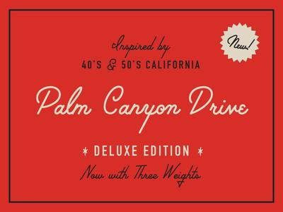 Palm Canyon Drive Deluxe Edition palm canyon drive hoodzpah amy hood cursive font hand lettered font script font fonts