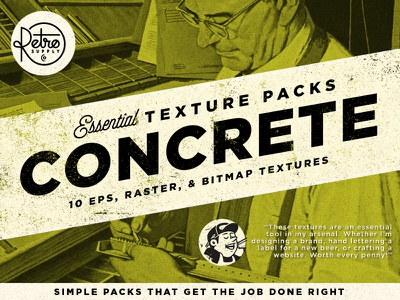 Concrete Essential Textures retrosupply grit grime grunge eps bitmap raster vector texture concrete