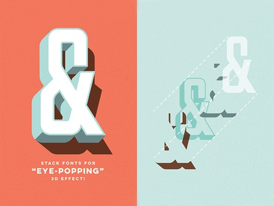 Stack This Font! type font retro parts and labor layered 3d